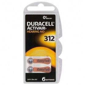 Duracell - Duracell ActivAir 312 MF (Hg 0%) Acoustic Hearing Aid Batteries - Button cells - BL066-CB www.NedRo.us