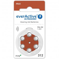 EverActive - everActive ULTRASONIC 312 / PR41 Hearing Aid Battery - Hearing batteries - BL301-CB