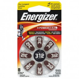 Energizer - Energizer 312 / PR41 Hearing Aid Battery - Hearing batteries - BL302-CB
