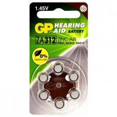 GP - GP 312 / ZA312 / PR41 Hearing Aid Battery - Hearing batteries - BL303-CB