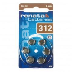Renata, Renata ZA 312 Hearing Aid Battery, Hearing batteries, NK403-CB