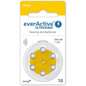 EverActive - everActive ULTRASONIC 10 1,45V Hearing Aid Battery - Mercury Free - Hearing batteries - BL305-CB