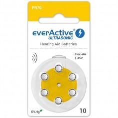 everActive ULTRASONIC 10 1,45V Hearing Aid Battery - Mercury Free