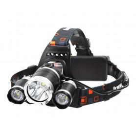 Boruit, 3000Lm XML-T6 2x XML-U2 LED Bike Headlight with 2x 18650 Batteries and charger, Flashlights, HLP01+2x-NK217, EtronixC...