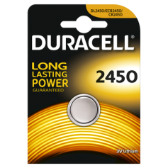 Duracell CR2450 3V lithium button cell battery