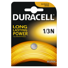 Duracell CR1/3 / 1/3N / 2L76 / DL1/3N / CR11108 / 2LR76 3V lithium battery