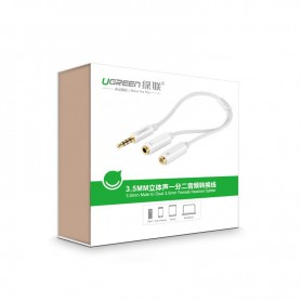 UGREEN, 3.5mm Jack to Dual 3.5mm F Headset + Mic Y Splitter, Audio cables, UG278-CB