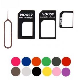 NedRo - 4 in 1 SIM Micro-SIM Nano-SIM adapter + Pin Key AL226 - SIM adapters - AL226-CB www.NedRo.us
