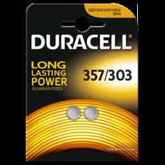 Battery Duracell 357-303 /G13 / SR44W 1.5V - Duo Pack