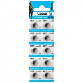 Energizer - 10x Vinnic 357/SR44W/G13 1.55V Silver Oxide Battery - Button cells - BL310-CB