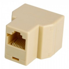 RJ45 CAT5 CAT6 Ethernet Splitter Connector Adapter