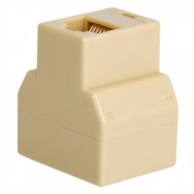 NedRo, RJ45 CAT5 CAT6 Ethernet Splitter Connector Adapter - 2 pieces, Network adapters, AL259-CB, EtronixCenter.com