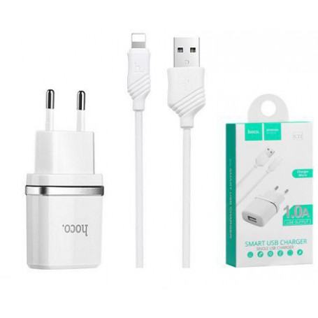 HOCO - Hoco Premium Lightning 1.0A charger adapter for Apple iPhone - Ac charger - H033-CB www.NedRo.us