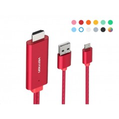 Vention - PREMIUM VENTION iPhone 8pin Lightning to HDMI converter adapter cable - iPhone data cables  - V091-CB