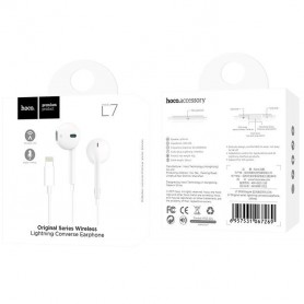 HOCO - HOCO Earphones IPHONE 7/8 lightning bluetooth L7 - Headsets and accessories - H60737 www.NedRo.us