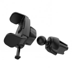 HOCO, HOCO CA39 Triumph Car holder in-car air outlet semi-automatic bracket, Car fan phone holder, H100192, EtronixCenter.com