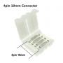 NedRo - (10 pcs) 10mm 4 Pin PCB Connector - LED connectors - LSC04 www.NedRo.us