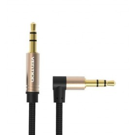 Vention - Vention Audio Jack 3.5mm Aux Cable Male to Male 90 Degree Right Angle Round Audio Cable - Audio cables - V097-CB