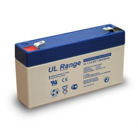 Ultracell - Ultracell VRLA / Lead Battery 1300mAh 6V (UL1.3-6) - Battery Lead-acid  - BS330 www.NedRo.us