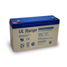 Ultracell, Ultracell VRLA / Lead Battery 10000mAh 6V (UL10.0-6), Battery Lead-acid , BS331