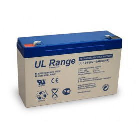 Ultracell, Ultracell VRLA / Lead Battery 12000mAh 6V (UL12-6), Battery Lead-acid , BS332
