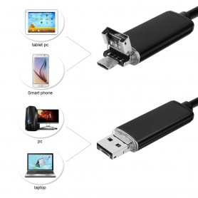 NedRo - 2 in 1 Endoscope 7mm Camera USB OTG for Android - Magnifiers microscopes - AL1029-CB www.NedRo.us