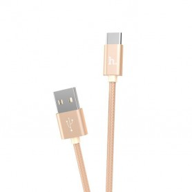 HOCO - HOCO Knitted X2 Cable USB to Type-C - USB to USB C cables - H100171-CB