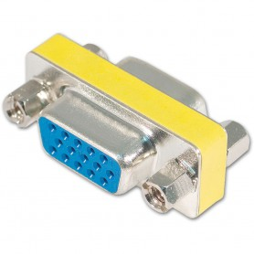 NedRo - 15 Pin HD SVGA VGA female to female adapter YPC278 - VGA adapters - YPC278
