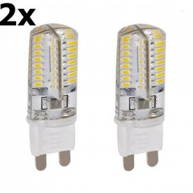 NedRo, 2 x G9 9W Warm White 48LED SMD2835 LED Lamp (not dimmable), G9 LED, AL300-9WW-CB, EtronixCenter.com