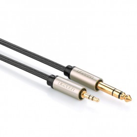 UGREEN - UGREEN 3.5mm Male to 6.35mm Male Jack Audio Cable - E14 LED - UG085-CB www.NedRo.us