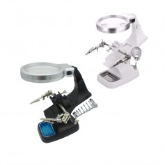Oem - Magnifying glass Loupe 3x and 4.5x Zoom Solder Holder With LED Lamp - Magnifiers microscopes - AL322-CB