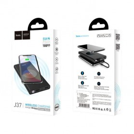 HOCO - HOCO Wireless Power Bank 10000mAh Wisdom J37 black - Powerbanks - H100233 www.NedRo.us