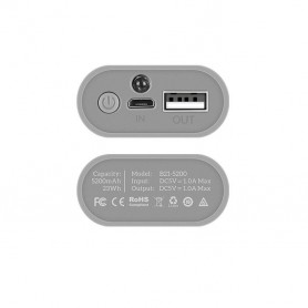HOCO - HOCO 5200mAh Powerbank B21-5200 Tiny Concave 5V/1A - Powerbanks - H60735-CB www.NedRo.us