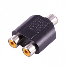 RCA Female to 2x RCA Female RCA Splitter Converter