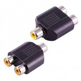 NedRo - RCA Female to 2x RCA Female RCA Splitter Converter - Audio adapters - AL324