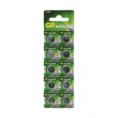 GP, GP LR44/76A/V13GA/A76 1.5v Alkaline button cell battery - 10 Pieces, Button cells, BS112-CB