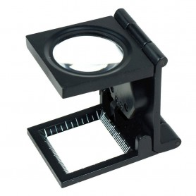 NedRo - 10x zoom Fold Texture Magnifier Glass with LED and Scale - Magnifiers microscopes - TM2019 www.NedRo.us