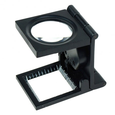 NedRo - 10x zoom Fold Texture Magnifier Glass with LED and Scale - Magnifiers microscopes - TM2019