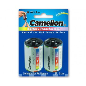 Camelion, Camelion AA R6 to D Mono R20 Aluminium Adapter, Battery accessories, BS341-CB