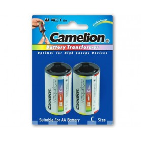 Camelion, Camelion AA R6 to C Baby R14 Aluminium Adapter, Battery accessories, BS342-CB