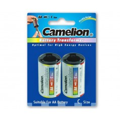 Camelion AA R6 to C Baby R14 Aluminium Adapter