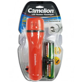 Camelion, Camelion rubber flashlight including 2x D R20 batteries, Flashlights, BS343-CB