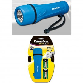 Camelion - Camelion rubber flashlight including 2x D R20 batteries - Flashlights - BS343-CB