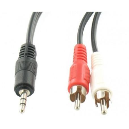 NedRo - Tulp - Jack 3,5mm stereo - Audio cables - YAK153-CB www.NedRo.us
