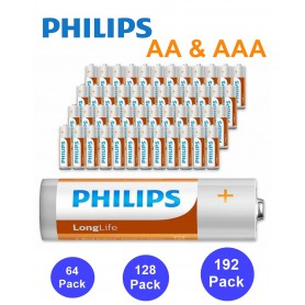 PHILIPS - Philips Power Pack - Longlife Alkaline AA + AAA - Size AAA - BS350-CB