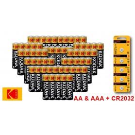 Kodak - Kodak Power Pack - Xtralife Alkaline AA AAA CR2032 - Size AAA - BS351-CB