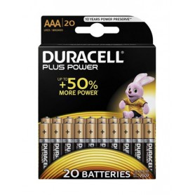 Duracell, Duracell Plus Power LR03 / AAA / R03 / MN 2400 1.5V alkaline battery - 20 Pieces, Size AAA, BS355-CB
