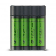 GP - GP X411 powerbank and battery charger + 4x AA 2600mAh - Battery chargers - BS359