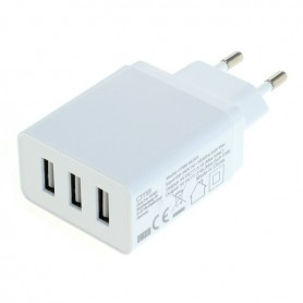 OTB - 3-Portos USB 3.1A Multi adapter Auto-ID - EU Plug - Ac charger - ON6280
