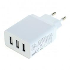 3-Portos USB 3.1A Multi adapter Auto-ID - EU Plug